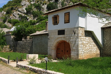 Old house in town Pocitelj near the Mostar
