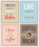 Fototapety Coffee posters. EPS8.