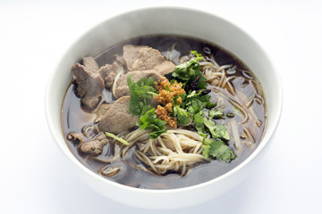 Thai Style Rice Noodles Soup with Beef