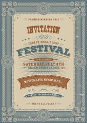 Vintage Holiday Festival Invitation Background