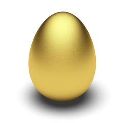 Eggs. 3D. Golden Egg