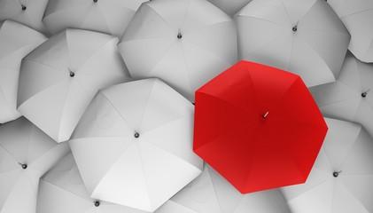 Umbrella. 3D. Different, leader, best, unique, boss