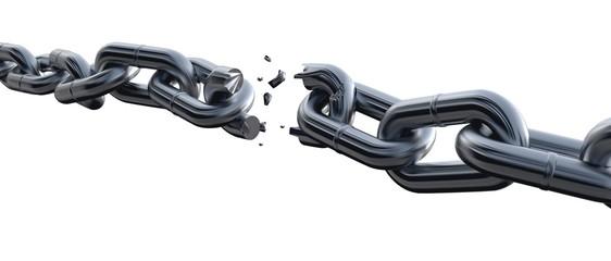 Chain. 3D. Chain Breaking II