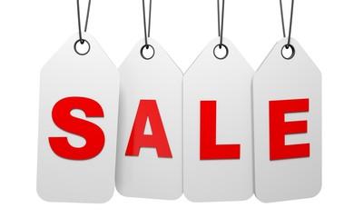 Sale. 3D. Sale tags
