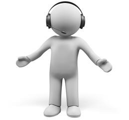 Three-dimensional Shape. 3D. Headphones