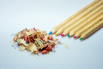 color crayons pencil sharpener