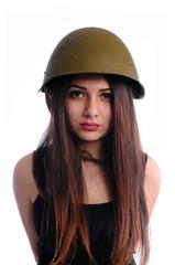 Cute girl with helmet