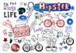 Hipsters doodle set - 80535691