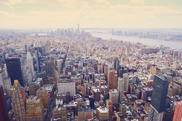 New York City Manhattan skyline aerial view