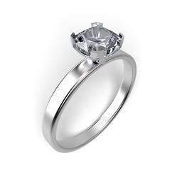 Ring. 3D. Diamond Ring