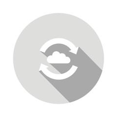 Icono intercambio nube gris botón sombra