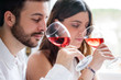 Couple at wine tasting. - 80535878