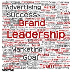 Vector conceptual business leadership word cloud