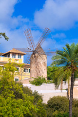 Palma de Majorca windmills wind mill in Mallorca