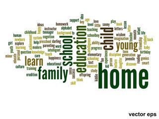 Vector conceptual  education word cloud