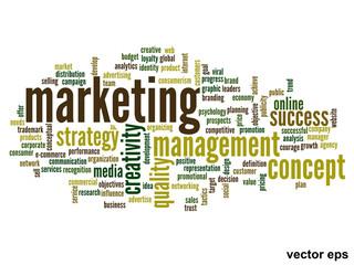 Vector conceptual business marketing word cloud