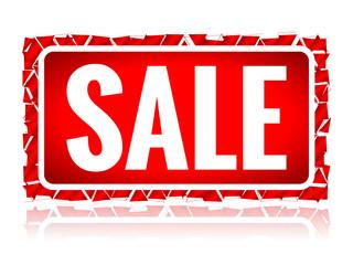Broke sale sign