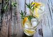 Leinwanddruck Bild - Rosemary and lemon soda