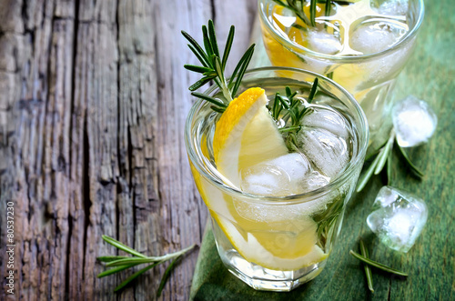 Rosemary and lemon soda