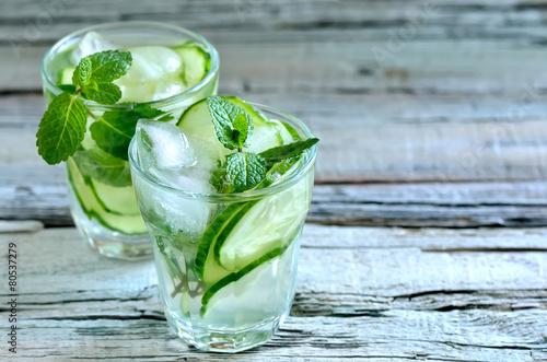 Fotobehang Water Cucumber water