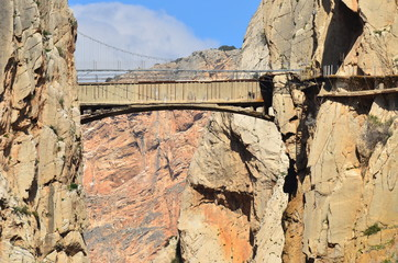 El Chorro,Andalusia,Spain, Entrance to Gaitanes Gorge