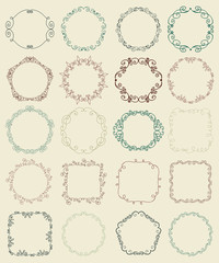 Hand Sketched Doodle Borders and Frames