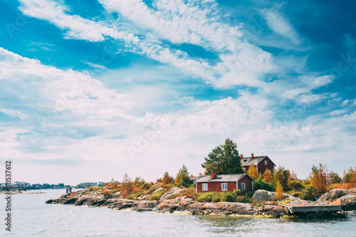Pier, Harbour And Quay, Island Near Helsinki, Finland. - 80537612