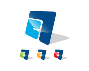 Logo Concept Letter Mark A # Vector