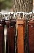 Leinwanddruck Bild - Leather belts, men fashion