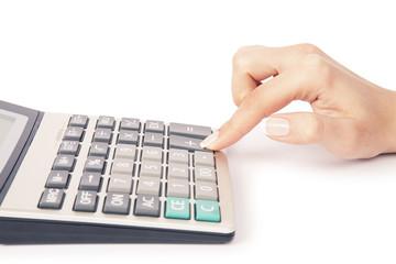 calculator with han