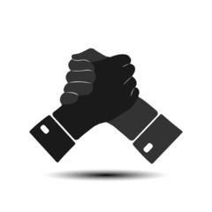 Icon handshake vector.