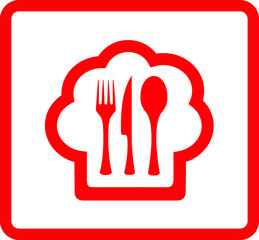 red icon for food symbol
