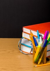 School. Back to school concept and pile of books isolated on