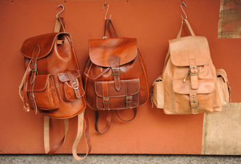Leather backpacks handmade