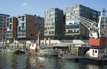 Traditionsschiffe im Sandtorhafen in Hamburg,Deutschland