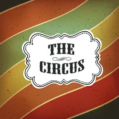 Circus Abstract Poster with Colored Lines, Vector Background