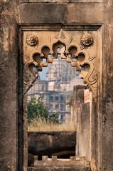 Detail decorative of Dauji Ki Kothi in Orchha