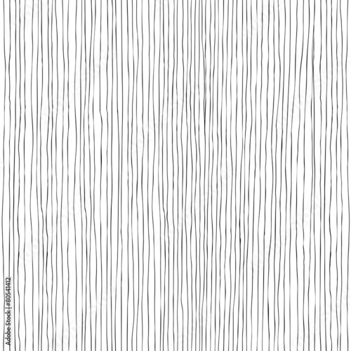 Seamless vertical lines hand-drawn pattern - 80541412