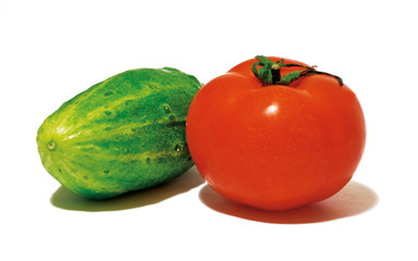 Tomato and Cucumberon