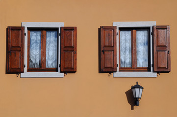 Two Windows and Street Lamp