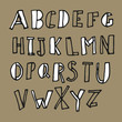 Hand-drawn Doodles Alphabet
