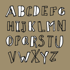 Hand-drawn Doodles Alphabet