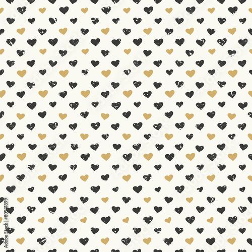 Seamless hearts pattern textured - 80541899