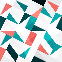 Seamless color triangles abstract background