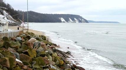Побережье Балтийского моря зимой. Светлогорск