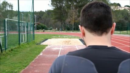 man doing the long jump
