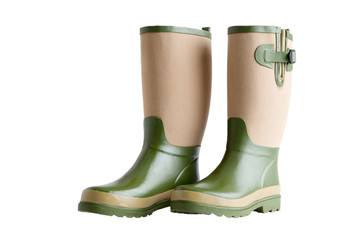 Side view of a pair of stylish garden boots