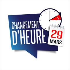 Changement d'heure - 29 mars 2015