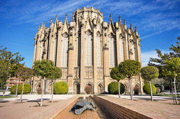 New cathedral, famous touristic landmark in Vitoria, Spain.