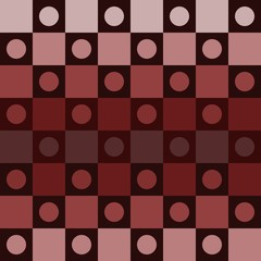 Abstract brown polka dot op art background